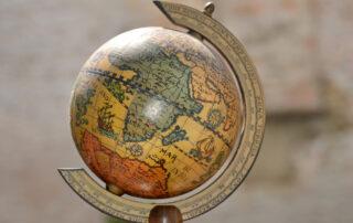A vintage globe