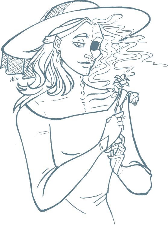 Illustration of the goddess Hel.